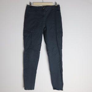 Boden Gray Cargo Skinny Pants Zipper Legs 6R